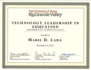 Technology Leadership Cetficate2