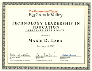 Technology Leadership Cetficate2